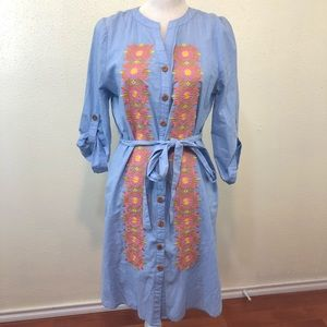 Anthropologie Uncle Frank Embroidered Dress